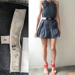 3.1 Philip Lim dark denim big bow dress w pockets